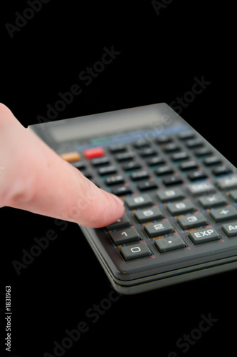 advanced scientific calculator with finger