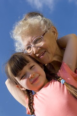 girl with grandma