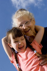 happy with grandma