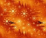 christmas orange fantasy poster