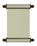 blank scroll poster