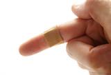 bandaged finger poster