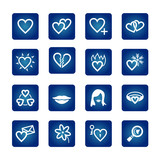 icon set. hearts, love, valentine poster