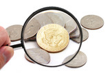 magnifying usa coins poster