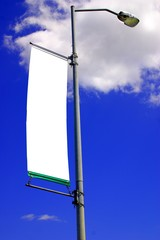 beautiful blue sky and sign