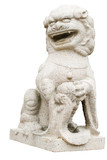 chinese lion statue poster