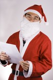 santa claus with check list poster
