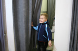 child in fitting-room