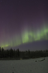 vibrating auroral arc in the sky