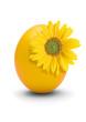 gelbes ei mit sonnenblume