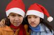 mädchen in weihnachtslaune