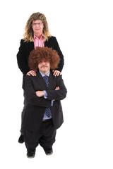two hippie businessman