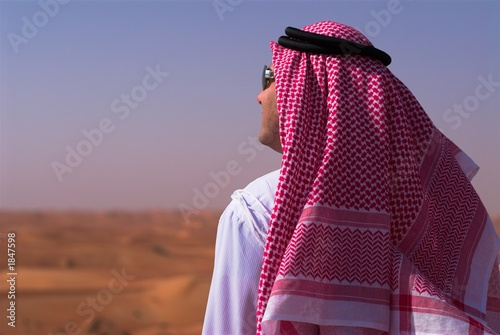 arabic man in liwa desert