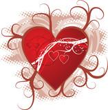 valentine background poster