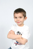 boy with arms folded poster