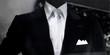 mannequin masculin dans beau costard noir&blanc