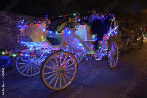 Fotobehang Texas carriage ride nite in ole san antonio