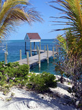 idyllic pier bahamas poster