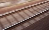 blurred railway poster