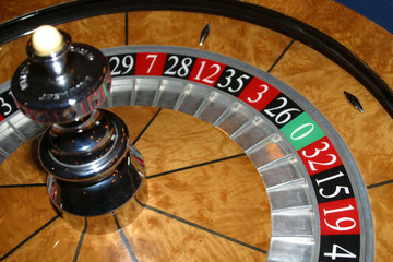 close up roulette wheel