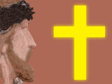 jesus and a cross poster
