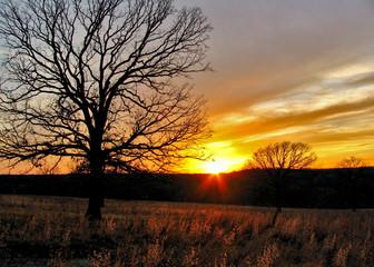 oklahoma winter sunset 2