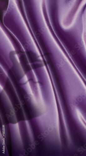 canvas print picture purple silk close up shoot with woman