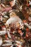 santa in shorts ornament poster