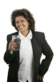 indian woman - refreshment poster