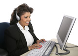 indian woman - technical support poster