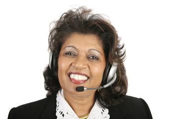 indian woman - customer service