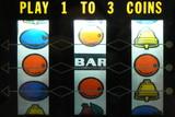 old slot machine reels poster