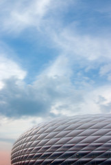 sky and football stadium