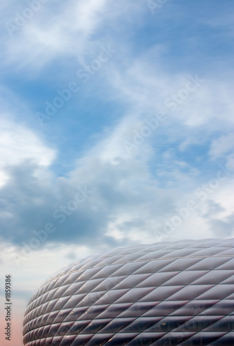 Fotobehang Stadion sky and football stadium