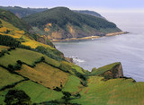 asturias coast spain poster