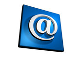 blue e-mail internet button poster