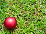 christmas ball decoration with copyspace poster