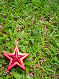 christmas star decoration with copyspace poster
