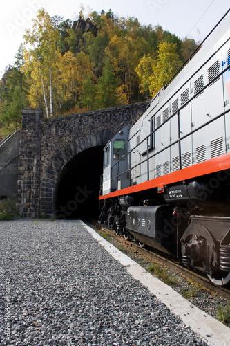 In de dag entrance to the tunnel (around baikal railroad)