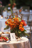 wedding table with bouquet of flowers - Fine Art prints