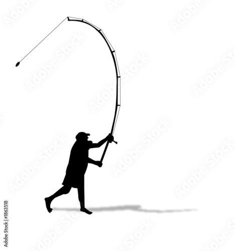 fishing silhouette - 1863518