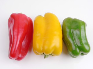 red green yellow paprika
