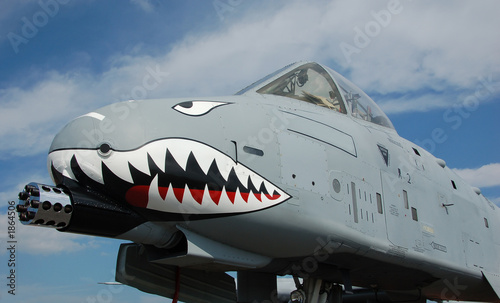 poster of nose of ground attack jet fighter