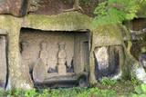 ancient statues-matsushima,japan poster