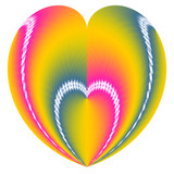 valentine heart in a heart poster