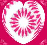 valentine heart design poster