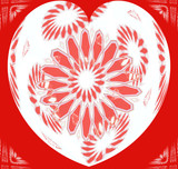valentine sunflower heart design poster