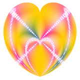 colorful valentine heart in a heart poster