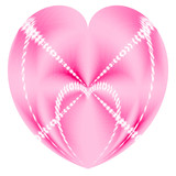 pink valentine heart in a heart poster