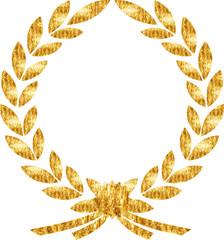 lorbeerkranz gold schleife